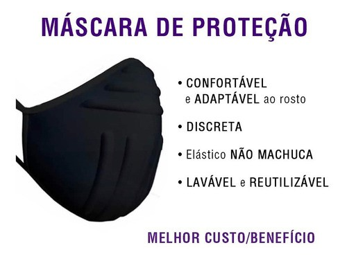 Kit 2 Máscaras G - Rosto Grande - Lavavel