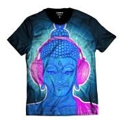 Camiseta Buda Rapper Alucinógeno Psicodélico Blue