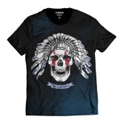 Camiseta Caveira Indígena Skull Selvagem
