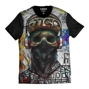 Camiseta Caveira Rapper Skull Color Bandana