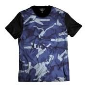 Camiseta Exército Azul Camuflada Estilosa