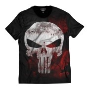 Camiseta Justiceiro The Punisher Caveira Blood Sangue