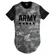 Camiseta Longline Exército Camuflada Army Swag