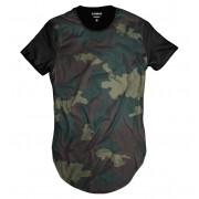 Camiseta Longline Camuflada Verde Exército Personalizada