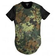 Camiseta Longline Verde Swag Exército Longa Camuflada