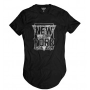 Camiseta Longline New York Swag Rap Hip Hop Style