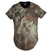 Camiseta Longline Swag Camuflada Exército Basic