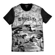 Camiseta Marijuana Thug Life Rap Camuflada Cannabis