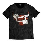 Camiseta Mascote Chicago Bulls Camuflada Swag Estilo