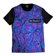 Camiseta Palmeiras Havaianas Di Nuevo Azul e Rosa Tropical