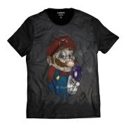 Camiseta Super Gamer Geek Noia Alucinado Cogumelo