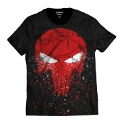 Camiseta The Punisher Justiceiro Caveira Vermelha Fragmentos