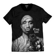 Camiseta Tupac Shakur Gangster Thug Life Hip Hop 2Pac