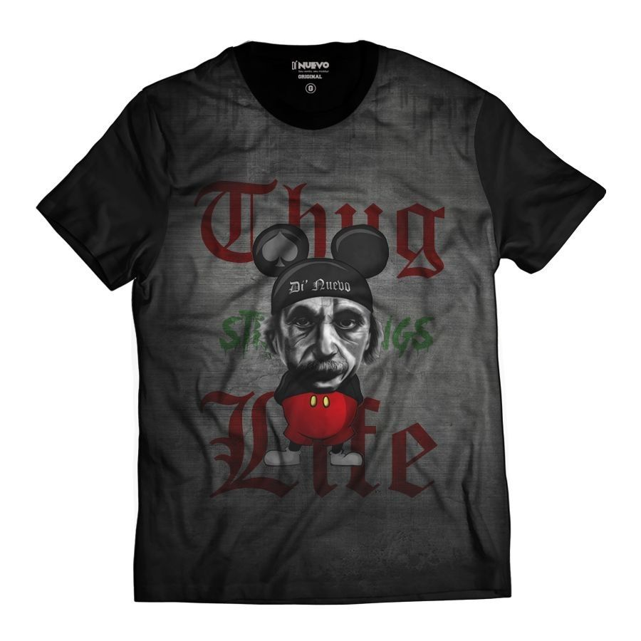 Camiseta Albert Einstein Mouse Estilo Rato Thug Life
