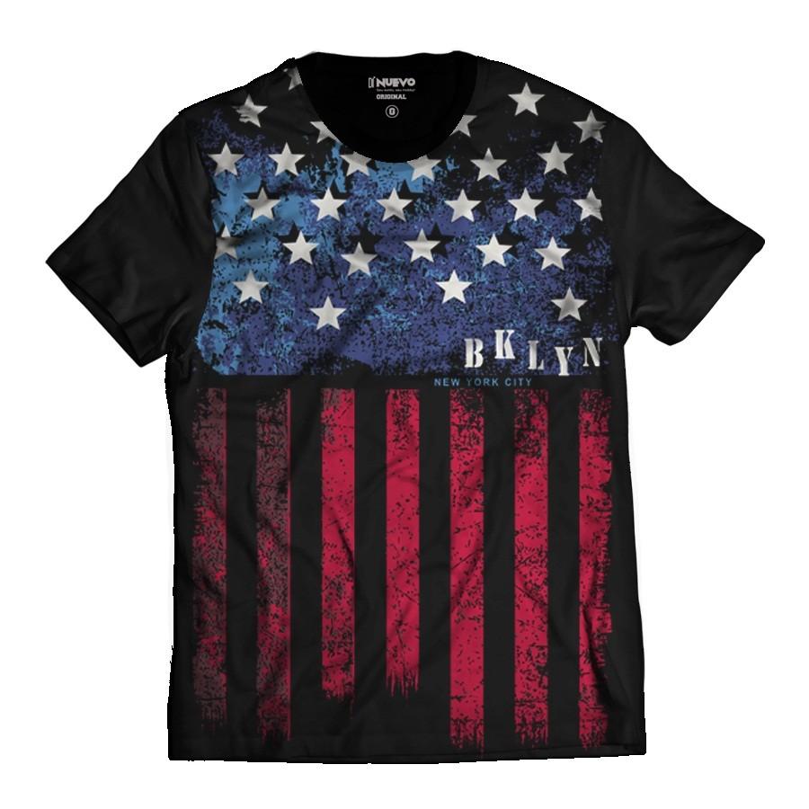 Camiseta Brooklyn Bandeira dos Estados Unidos NY City