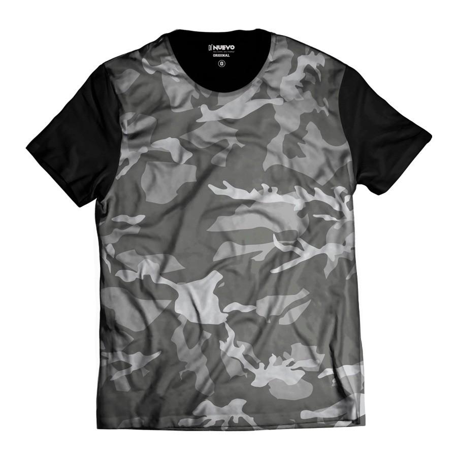 Camiseta Exército Camuflada Cinza Brasileira Top