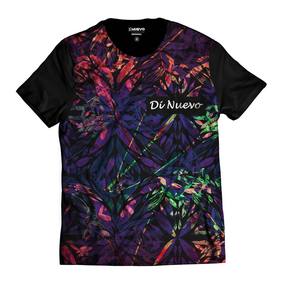 Camiseta Colorida Paradise Di Nuevo Sheets Havaiana Tropical