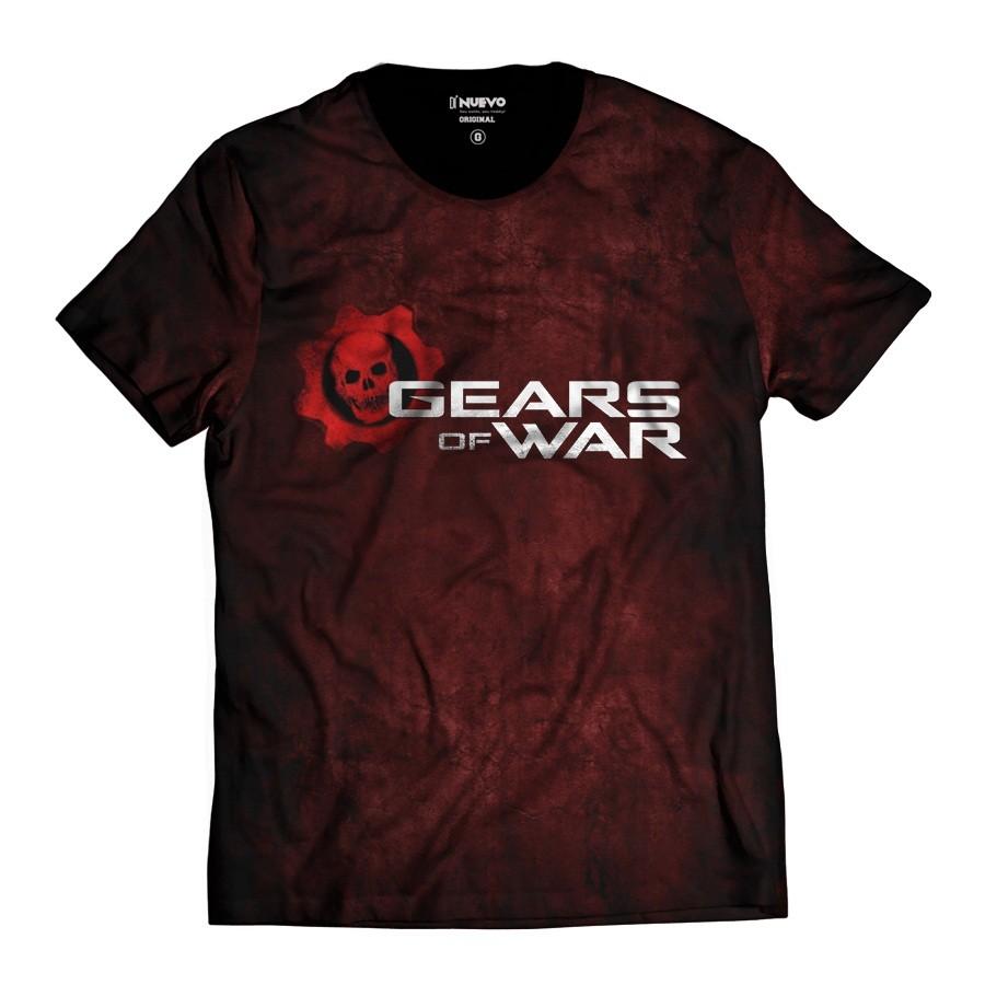 Camiseta Gears of  War Blood Caveira Vermelha
