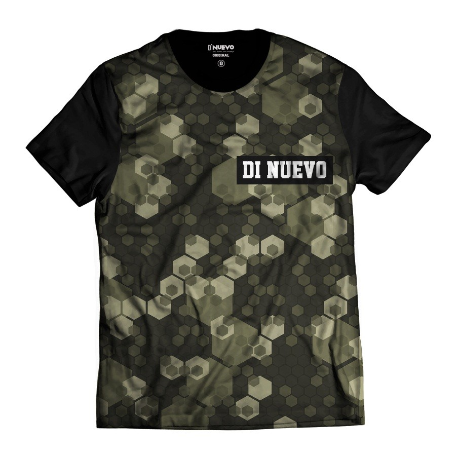 Camiseta Geométrica Colmeia Camuflada