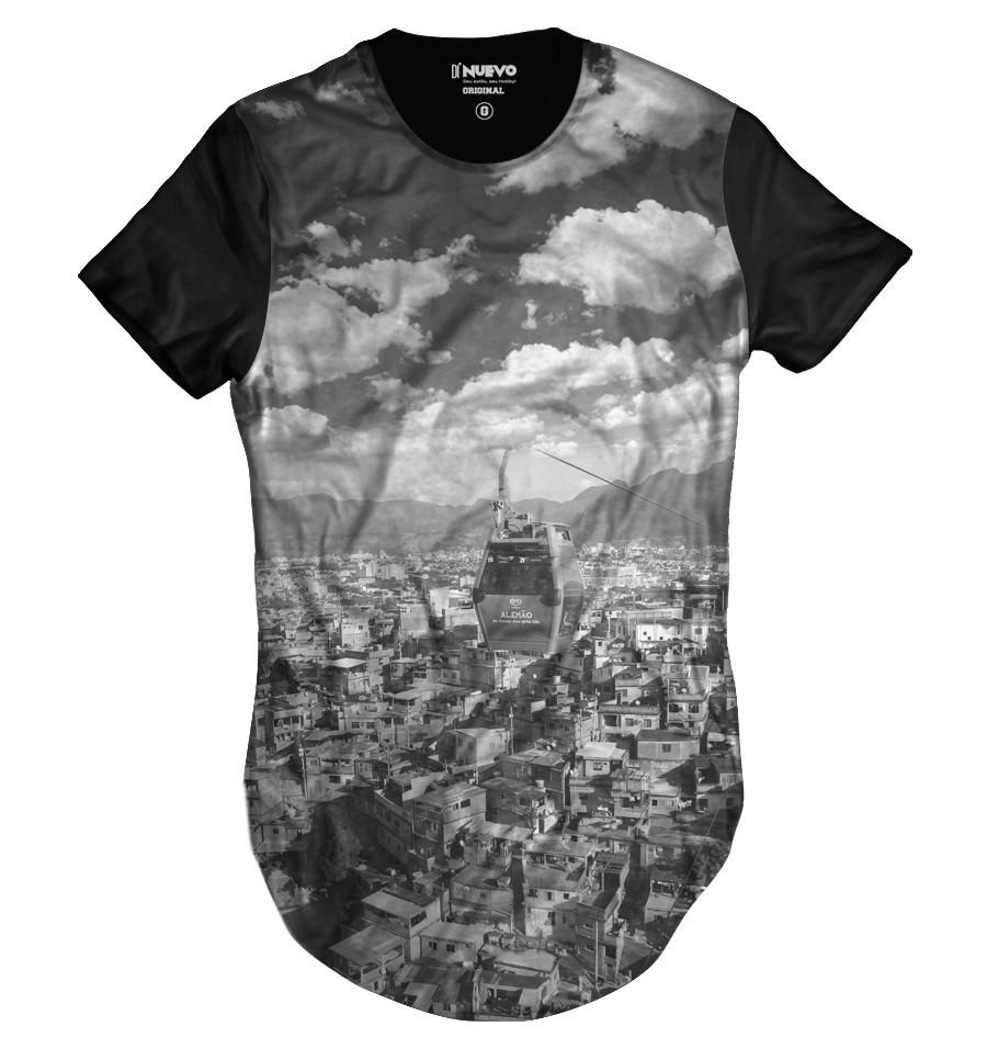 Camiseta Longline Complexo Alemão Morro do Alemão Swag