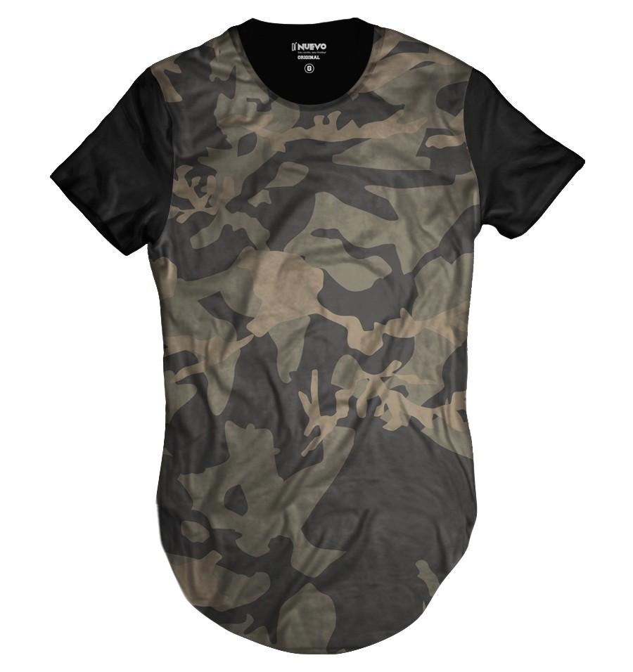 Camiseta Longline Swag Exército Camuflada Brasileira