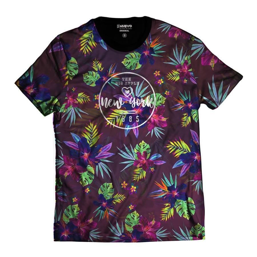 Camiseta New York 1985 Floral NY Colorida