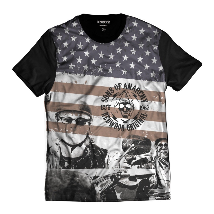 Camiseta Samcro Jax Teller Sons oF Anarchy 1967 EUA Redwood