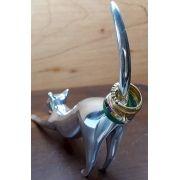 Gato Porta Anéis  Pequeno Escultura (1peça)