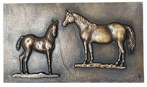 Quadro alto-relevo  em Bronze