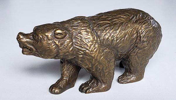 Urso de Wall Street bronze maciço