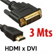Cabo HDMI Macho x DVI 24+1 Macho 3 metros com Filtro Xtrad XT-5138