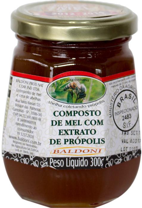 COMPOSTO DE MEL COM PROPOLIS POTE 300G