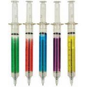 Caneta - Modelo Seringa - Kit com 5 canetas