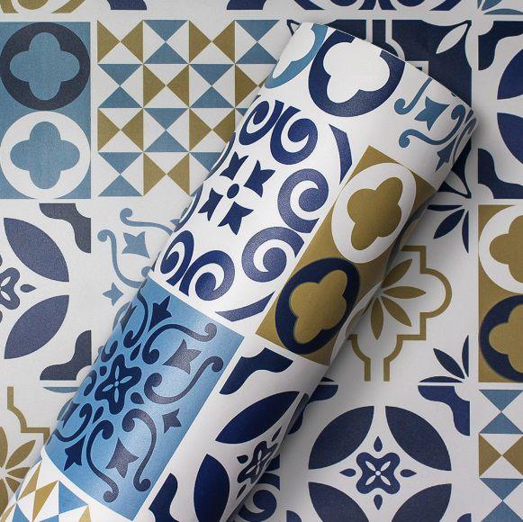 Adesivo Decor Azulejo Portugues larg 1,22m