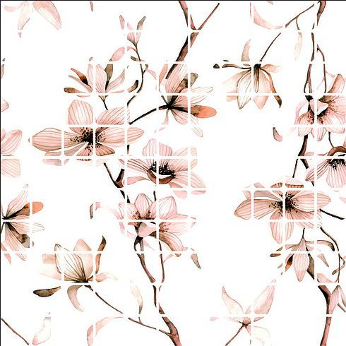 Adesivo Pastilha Flores RevestMax