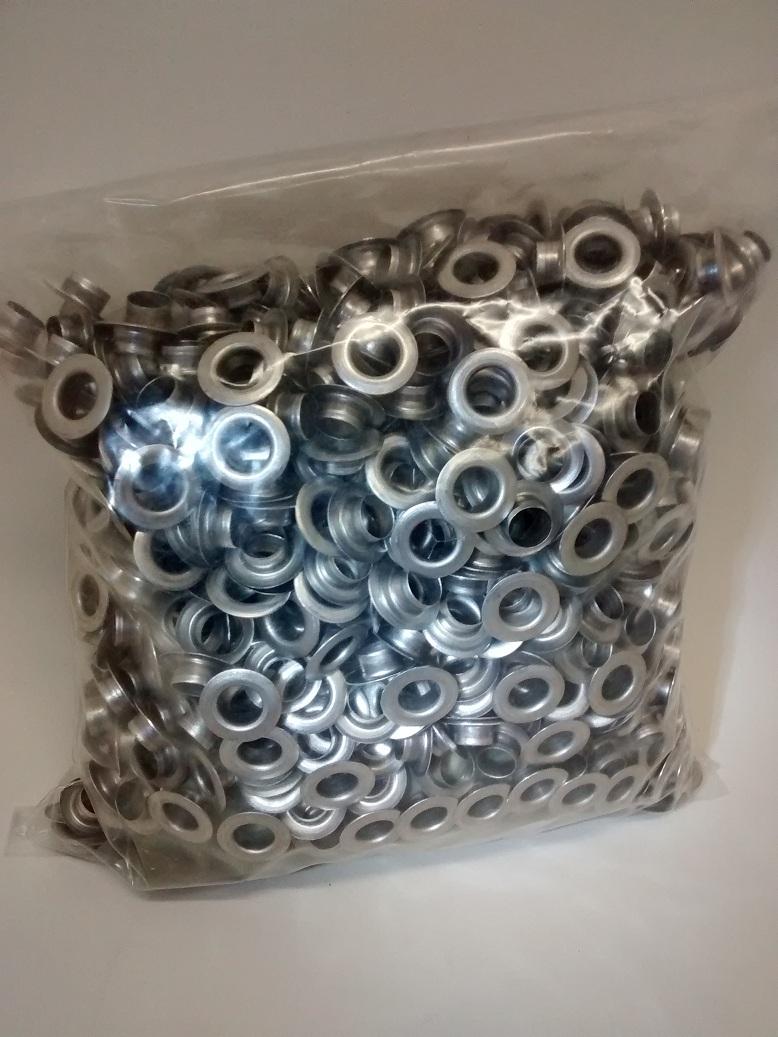 Ilhos Alumínio pacote 1000un