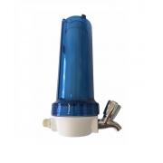Filtro de Água com Carvão Ativado Torneira em Metal Cromada - Blister 10 - Transparente