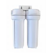Filtro de água de Entrada de Caixa Dágua Duplo Polipropileno 10 Branco