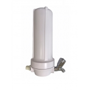Kit de Filtro de Água com Carvão Ativado e Torneira - Blister 10 - Branco + 02 Refis Extras para Reposição