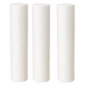 Kit Refis para Filtro Triplo de Entrada - 3 Elementos Filtrantes Polipropileno Liso 10 x 2.1/2