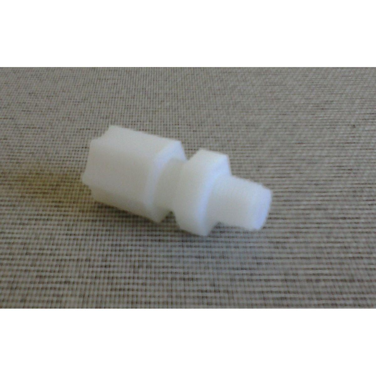 Conector Nylon Rosca 1/8 pol. Mangueira 1/4 pol.