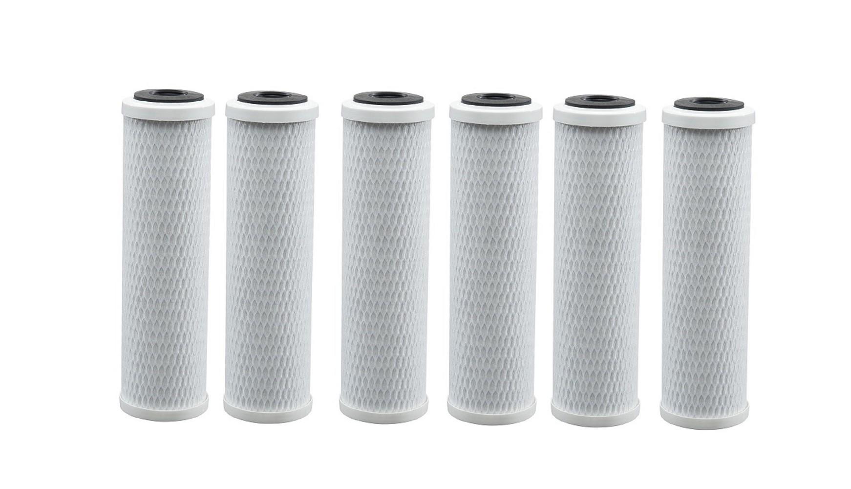 Elemento Filtrante Carvão Ativado/Carbon Block 10 x 2,5 5 Micras - Pacote com 06 unidades