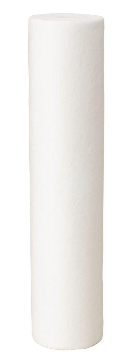 """Filtro de água de Entrada de Caixa Dágua Duplo Polipropileno 10"""" x 2,5"""" Branco"""
