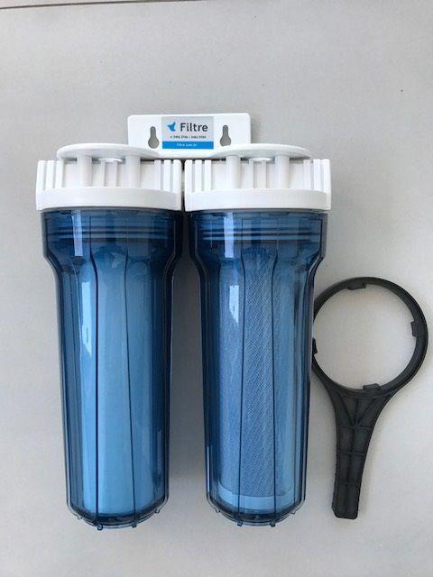 Filtro de água Duplo - Transparente - Baixo de Pia