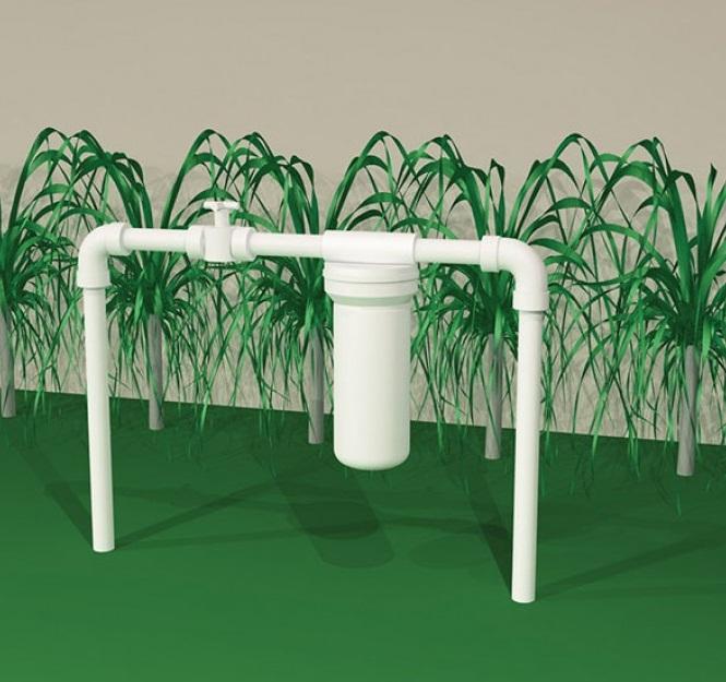 Filtro de água Entrada Caixa Dágua / Cavalete - POE 10 x 2.1/2 Branco PP