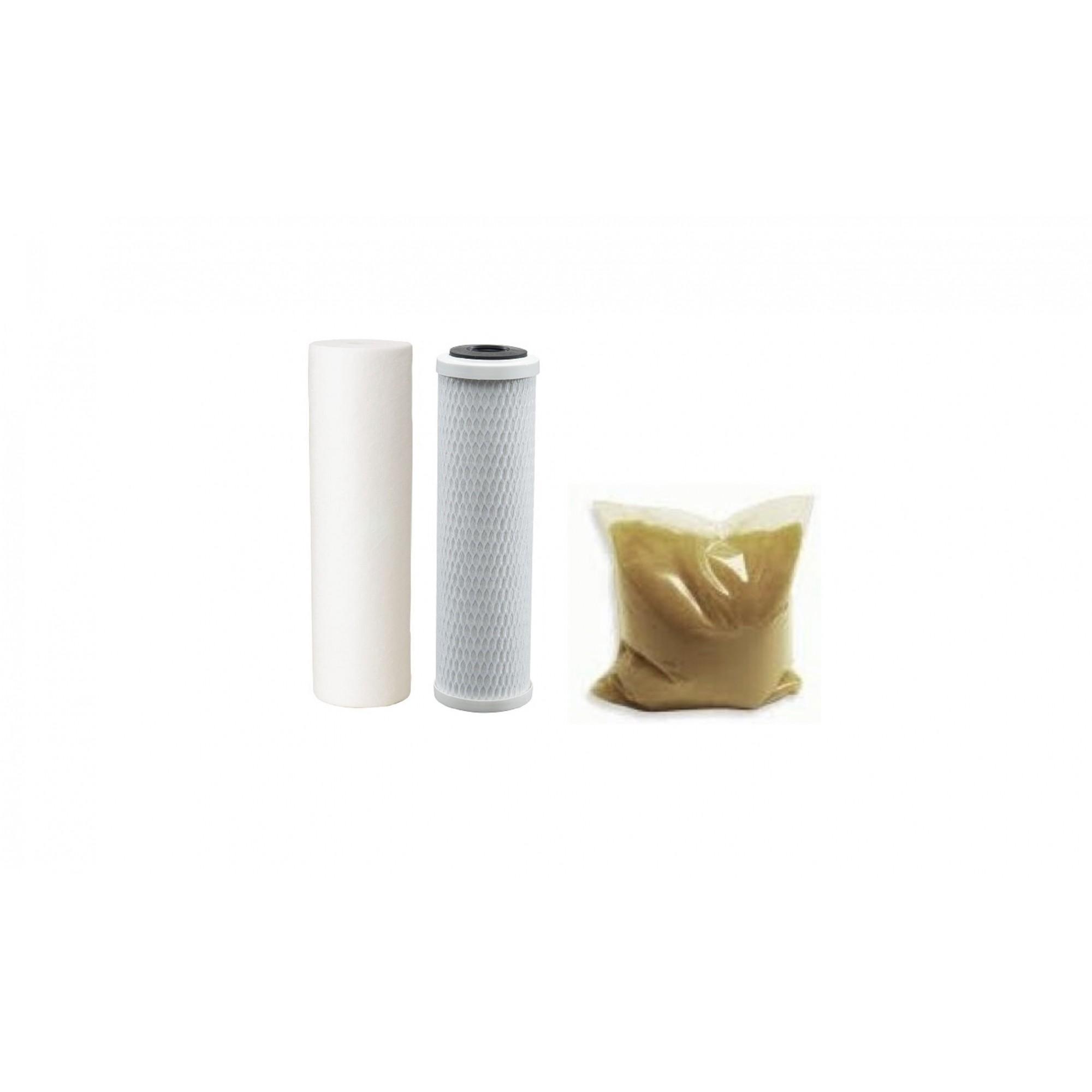 Kit de Refis 10 x 2,5 para Filtro Deionizador Triplo