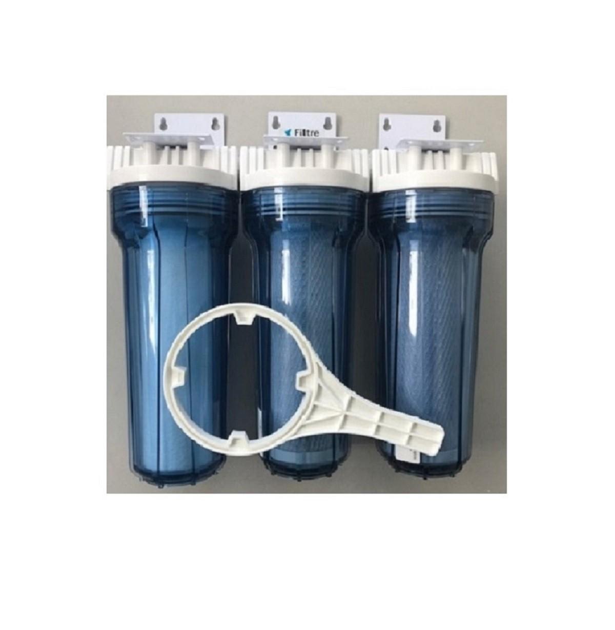 Kit Filtro de Água Triplo Transparente - POU - 10 - PROMOÇÃO!