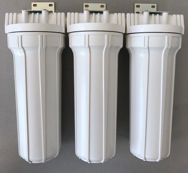 Kit Filtro Triplo para filtragem de água para fabricação cerveja artesanal - Branco - 10