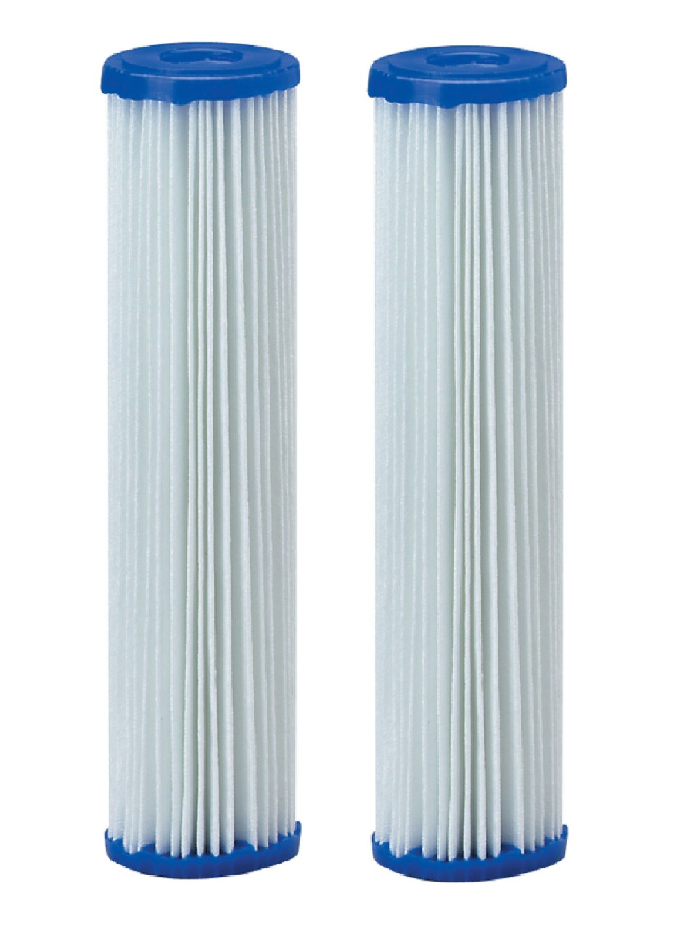 Kit Refis Filtro Duplo Entrada - 01 Elemento filtrante plissado 9.3/4 x 2.1/2 - 25M - 01 Elemento filtrante plissado 9.3/4 x 2.1/2 - 50M