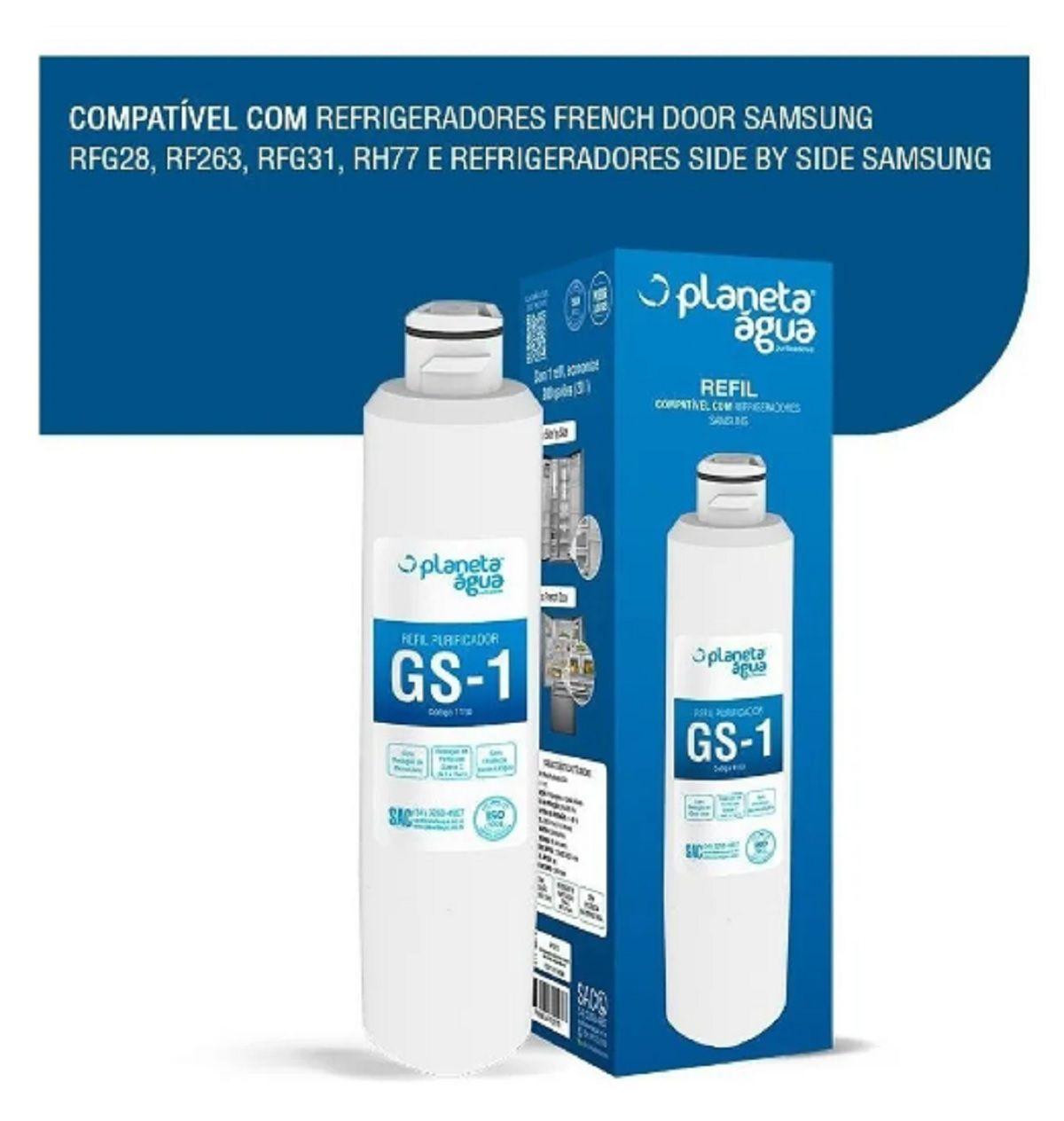 Refil Filtro Água Gs-1 Geladeira Samsung Haf-cin/exp Da29-00020b Haf-cin/xme Rf28hdedbsr